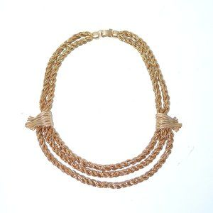 Napier Chunky Gold Rope Chain Choker Necklace